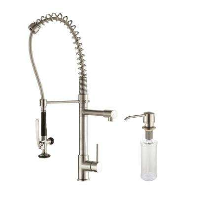 Commercial Style Single Handle Pull Down Kitchen Faucet ...