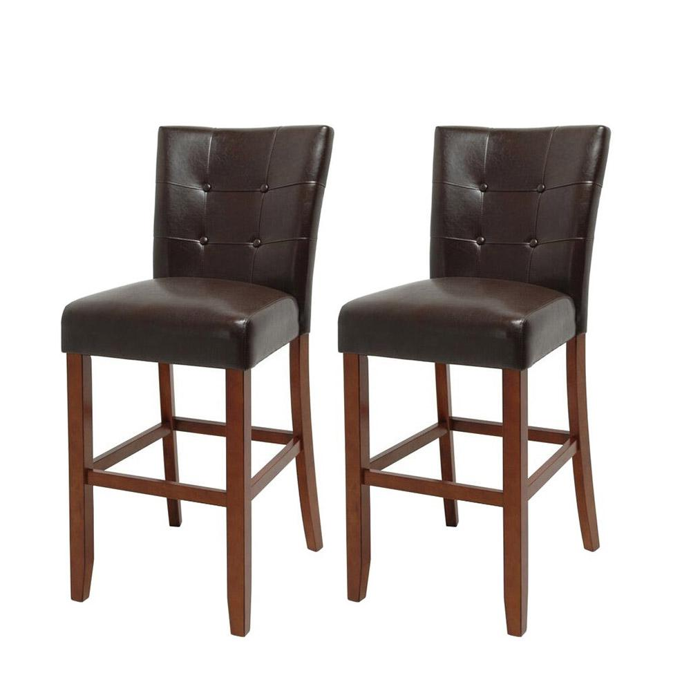 Steve Silver Montibello Bar Chair (Set Of 2), Dark Brown