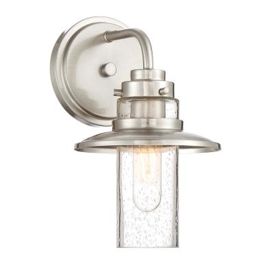 Dover 1-Light Satin Platinum Interior Wall Sconce