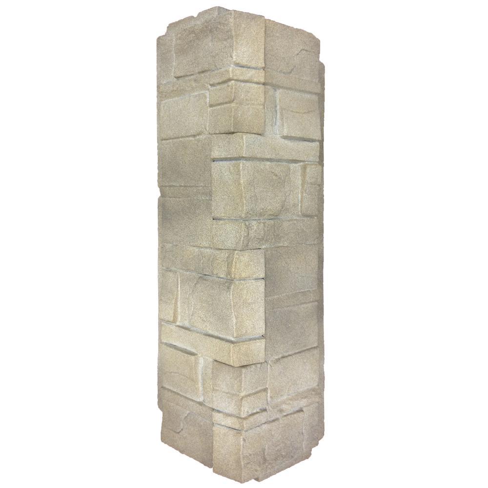 5.88 in. x 16 in. Dry Stacked Stone Corner in Limestone (5-Case)