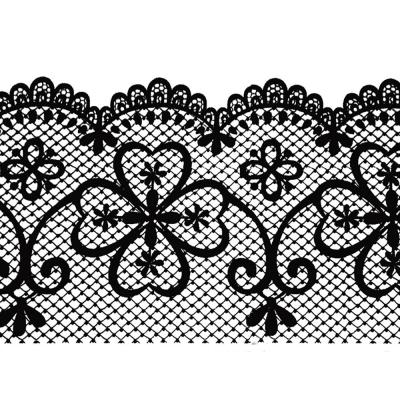 Falkirk McGhee Peel and Stick Trellis Black Latticework Self Adhesive Window Sticker Wallpaper Border