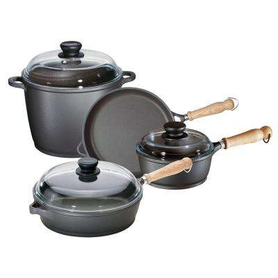 Tradition 7-Piece Cast Alumium Cookware Set with Lids