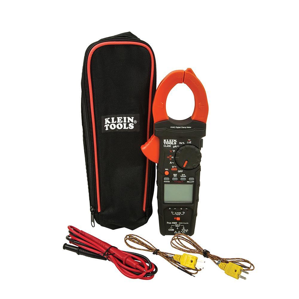 HVAC Clamp Meter with Differential Temperature
