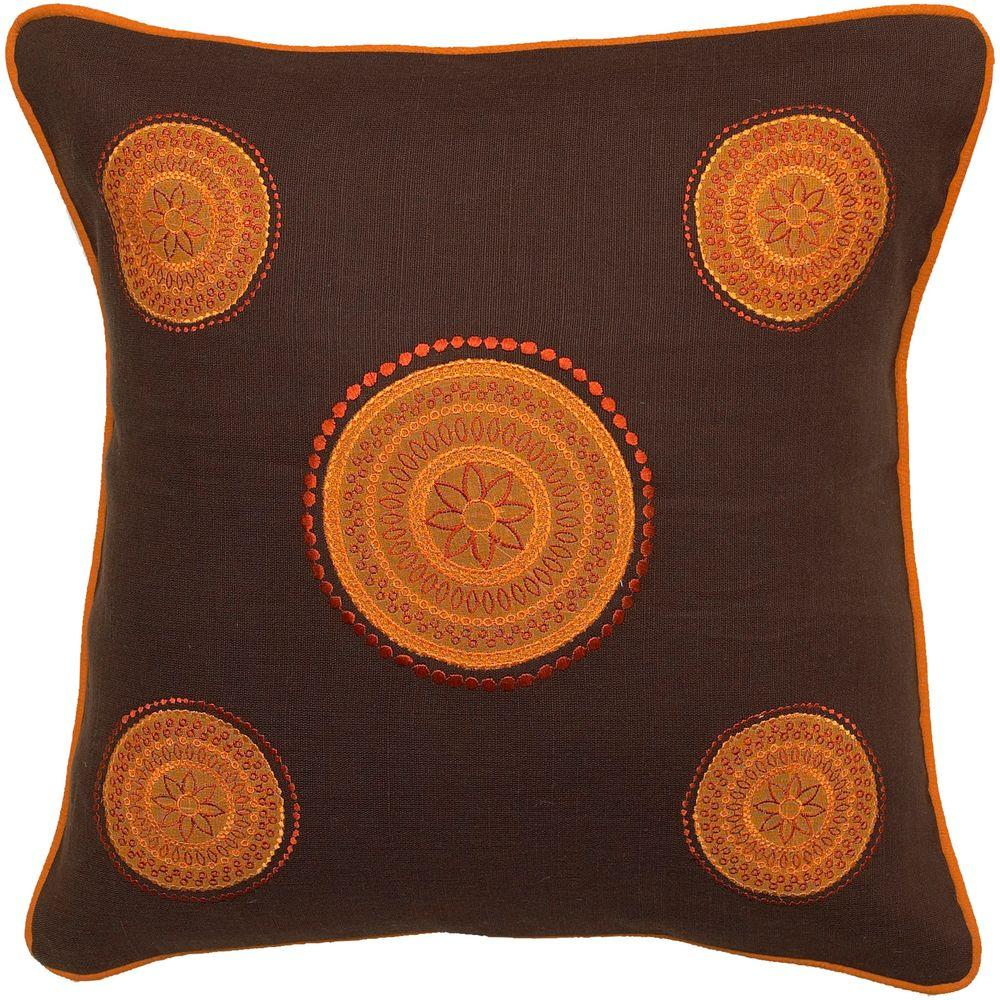 Artistic Weavers CirclesA 18 in. x 18 in. Decorative Down Pillow-DISCONTINUED