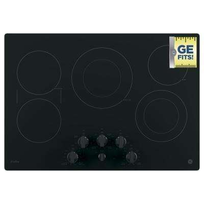Profile 30 in. Radiant Electric Cooktop in Black with 5 Elements with Rapid Boil