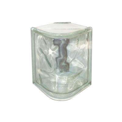 Nubio 4.875 in. x 7.75 in. x 3.875 in. Wave Pattern Corner Glass Block (6-Pack)