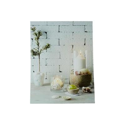 15.75 in. x 12 in. LED Lighted Serene Seaside Spa Decorative Canvas Wall Art