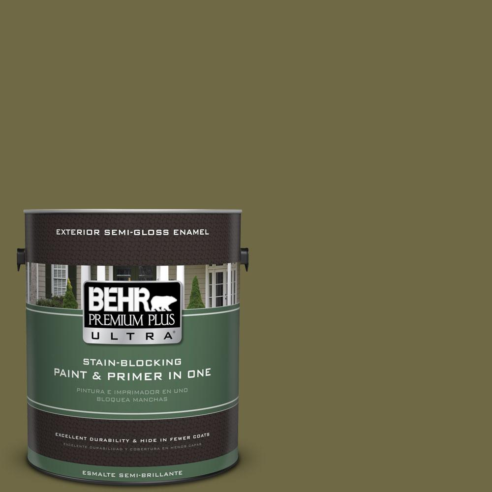 BEHR Premium Plus Ultra 1-gal. #390F-7 Wilderness Semi-Gloss Enamel Exterior Paint