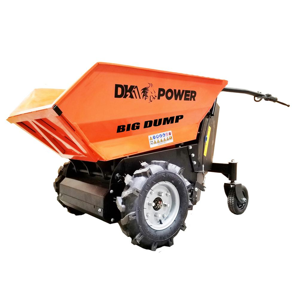 Detail K2 8 cu. ft. 1100 lbs. Capacity Electric Powered Dump Cart with Interchangeable Carry-All Bucket