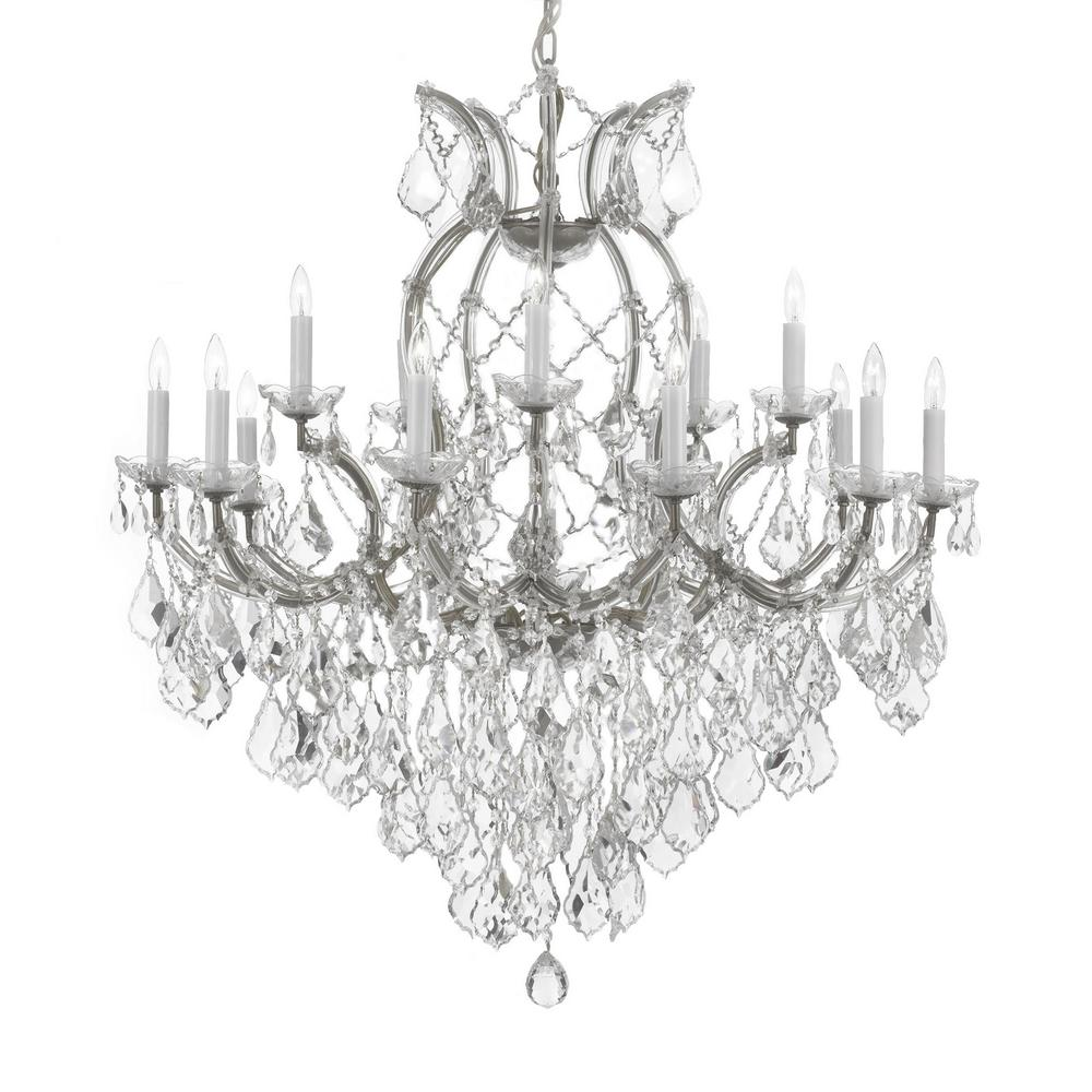 Diy Chandelier Wiring Diagram Get Free Image About Maria Theresa 16 Light Empress Crystal Silver T40 624