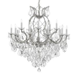 Maria Theresa 16-Light Empress Crystal Chandelier Silver by