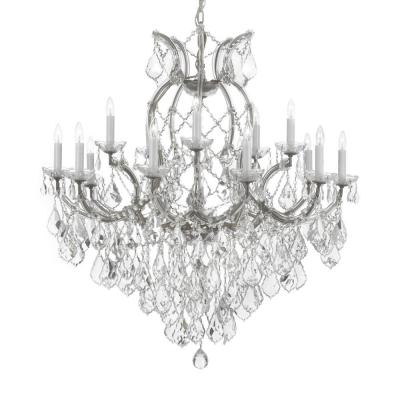 Maria Theresa 16-Light Empress Crystal Chandelier Silver