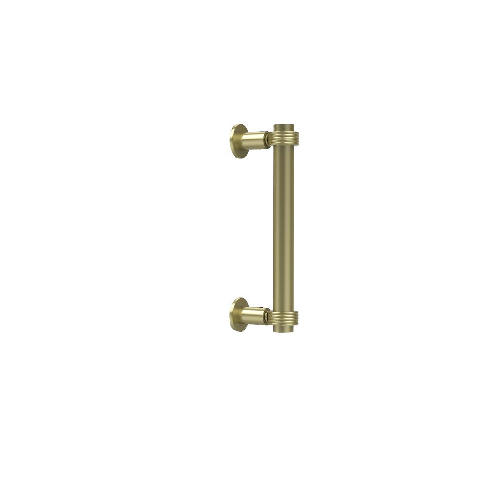 Contemporary 8 in. Back to Back Shower Door Pull in Satin