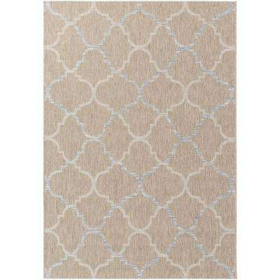 Evonne Taupe 5 ft. x 8 ft. Indoor/Outdoor Area Rug