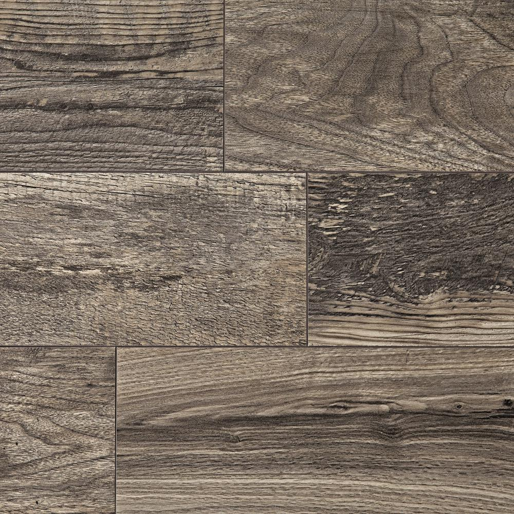 HomeDecoratorsCollection Home Decorators Collection Cinder Wood Fusion 12 mm Thick x 6-1/8 in. Wide x 50-4/5 in. Length Laminate Flooring (17.44 sq. ft. / case), Light