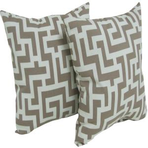 Arlington House Keys Taupe Square Outdoor Throw Pillow (2-Pack) by Arlington House