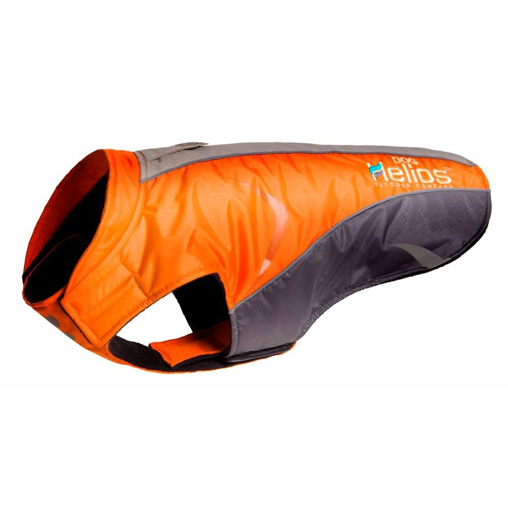 Helios Large Orange Altitude-Mountaineer Wrap- Protective Waterproof Dog Coat