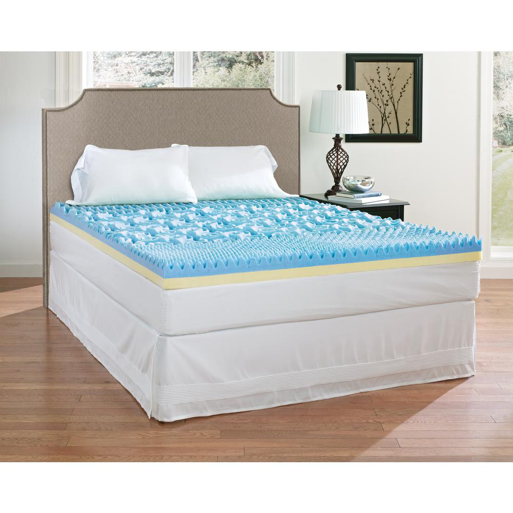 queen size mattress topper Broyhill 4 in. Queen Gel Memory Foam Mattress Topper IMTOPB401QN  queen size mattress topper