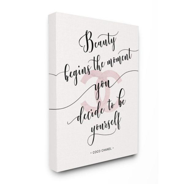 Stupell Industries Beauty Begins Fashion Designer Pink Inspirational Word Design By Ziwei Li Canvas Typography Wall Art 20 In X 16 In Ygg 149 Cn 16x20 The Home Depot