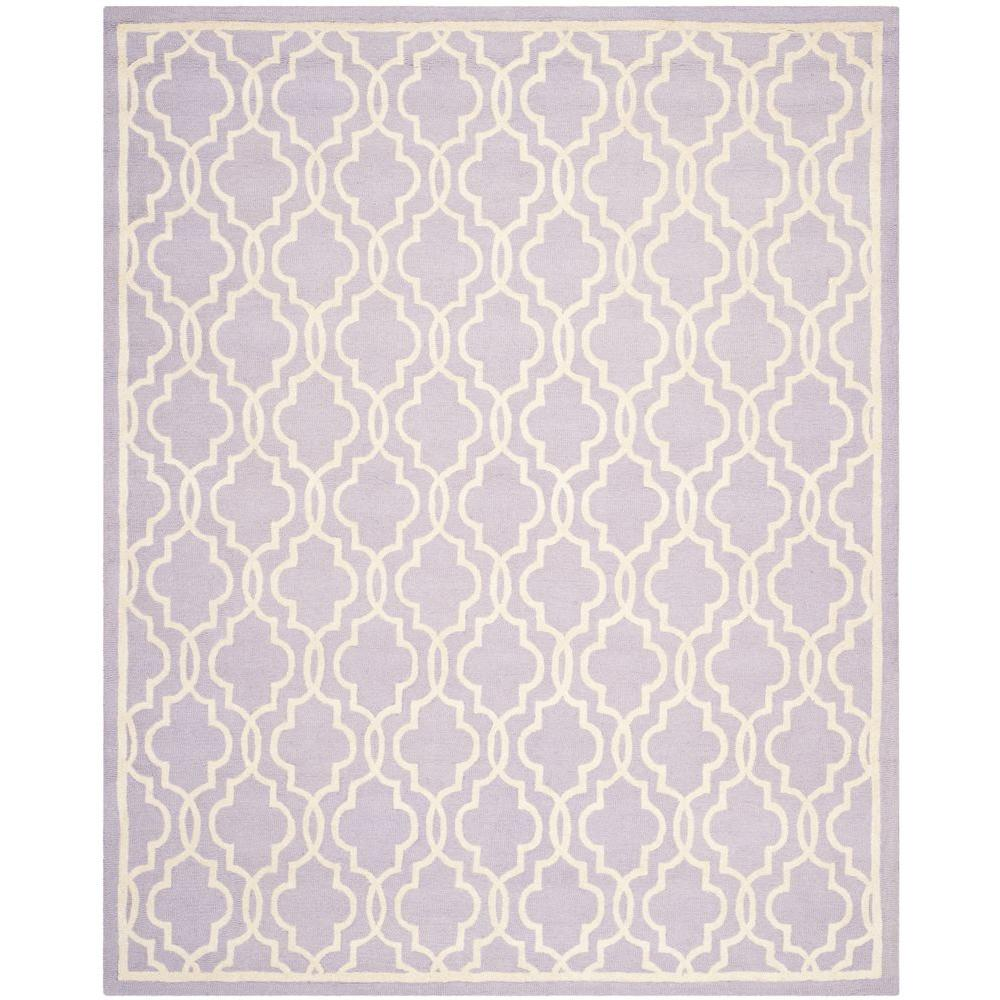 Cambridge Lavender/Ivory 9 ft. x 12 ft. Area Rug