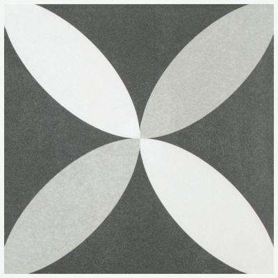 Twenties Petal Encaustic 7-3/4 in. x 7-3/4 in. Ceramic Floor and Wall Tile