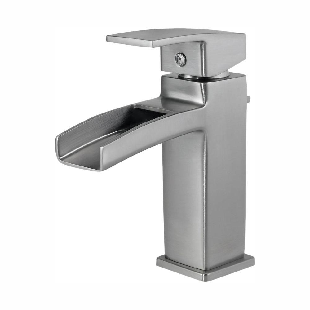 Kenzo Single Hole Single-Handle Bathroom Faucet in Brushed Nickel