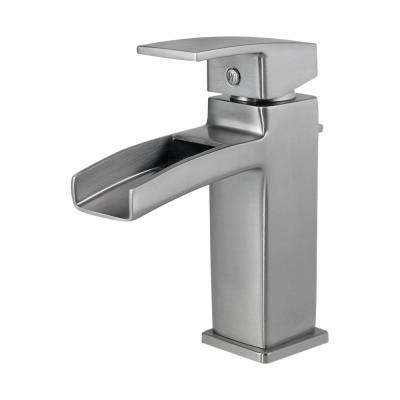 Kenzo Single Hole Single-Handle Bathroom Faucet in Brushed Nickel