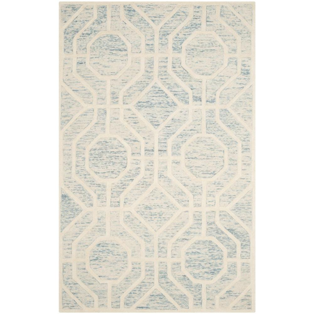 Cambridge Light Blue/Ivory 4 ft. x 6 ft. Area Rug