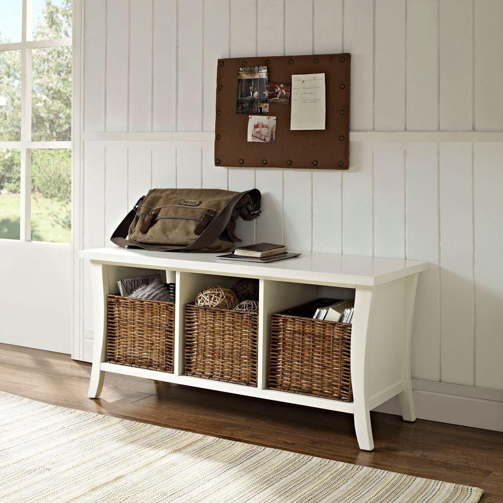 Wallis White Storage Bench