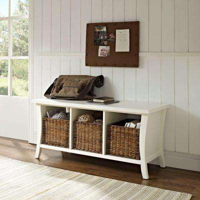 Wallis White Storage Bench