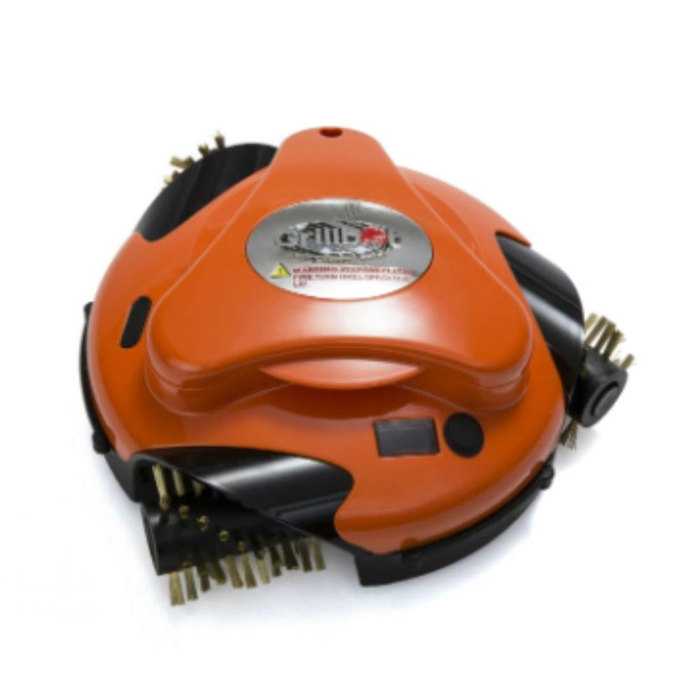 Grillbot Orange Automatic Grill Cleaning Robot with Installed Brass Replacement Brush