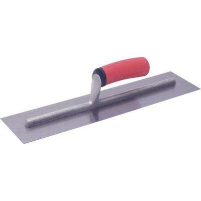 14 in. x 4 in. Finishing Trowel with Soft Grip Handle