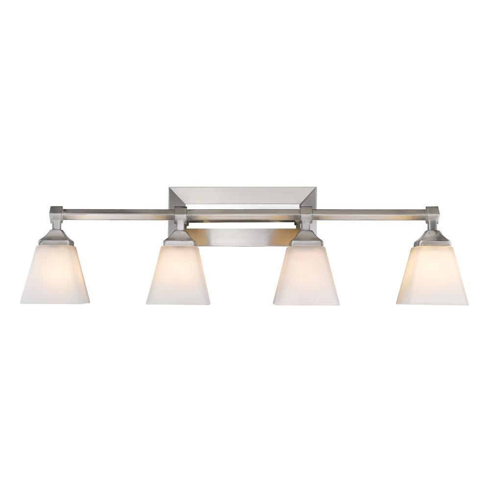 Gentry 4-Light Pewter Bath Light