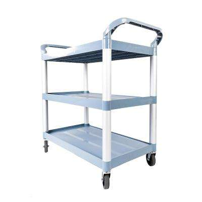 Portable 3-Tiers Plastic Cart in Gray