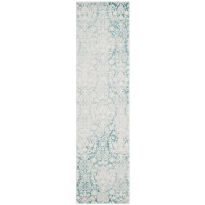 Passion Turquoise/Ivory 2 ft. 2 in. x 10 ft. Runner