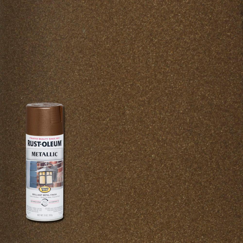 Rust Oleum Stops 11 Oz Vintage Metallic Dark Copper Protective Spray Paint