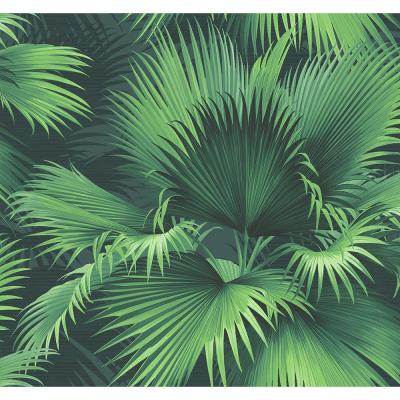 Endless Summer Dark Green Palm Paper Strippable Roll Wallpaper (Covers 60.8 sq. ft.)