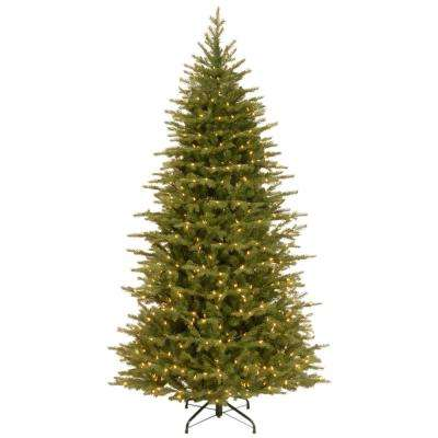 7-1/2 ft. Feel Real Nordic Spruce Slim Hinged Artificial Christmas Tree with 750 Clear Lights