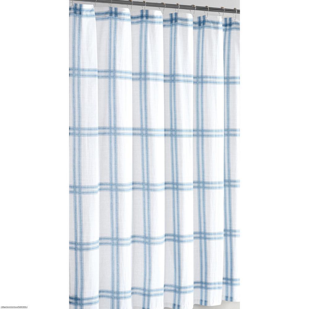 72 in. x 72 in. Farmhouse Plaid Shower Curtain
