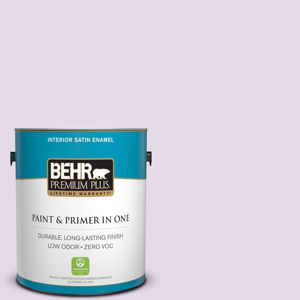 1 gal. #M100-1 Aroma Satin Enamel Zero VOC Interior Paint and