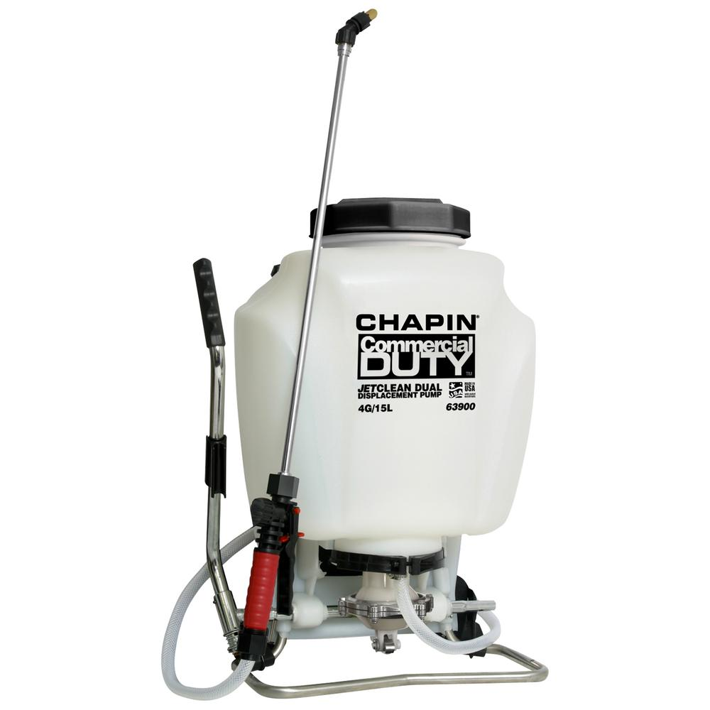 4 Gal. Self-Cleaning Backpack Sprayer with Hand Sprayer Combo