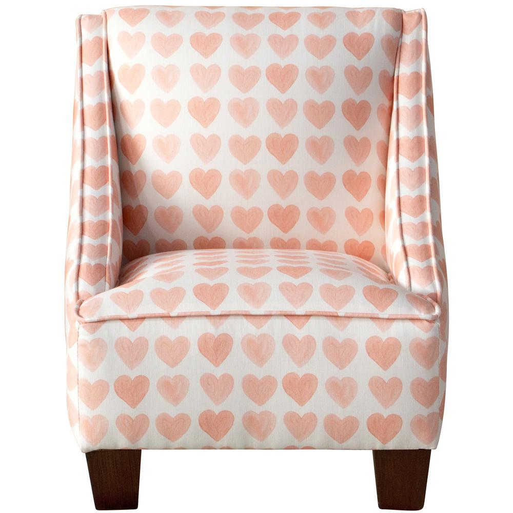 Peachy Skyline Furniture Hearts Peach Kids Swoop Arm Chair 72 Gmtry Best Dining Table And Chair Ideas Images Gmtryco