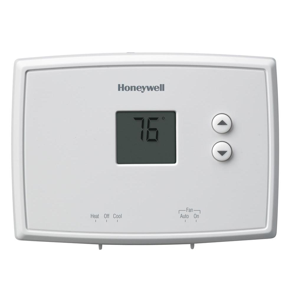 Non Programmable Thermostats The Home Depot Honeywell Thermostat Troubleshooting Wiring Digital