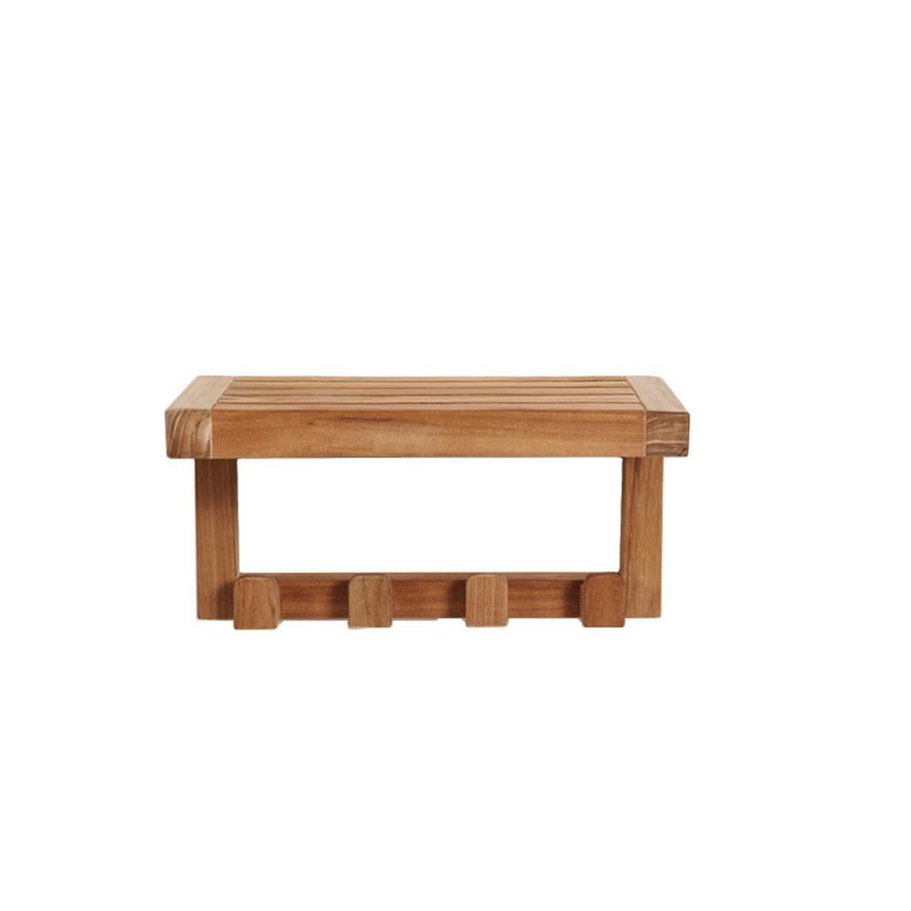 ARB Teak and Specialties 17.75 in. x 9 in. Wall Shelf in Natural ...