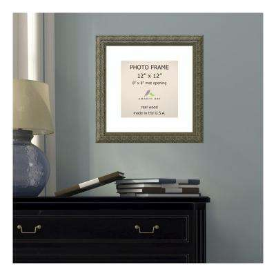 Barcelona 8 in. x 8 in. White Matted Gold Champagne Picture Frame