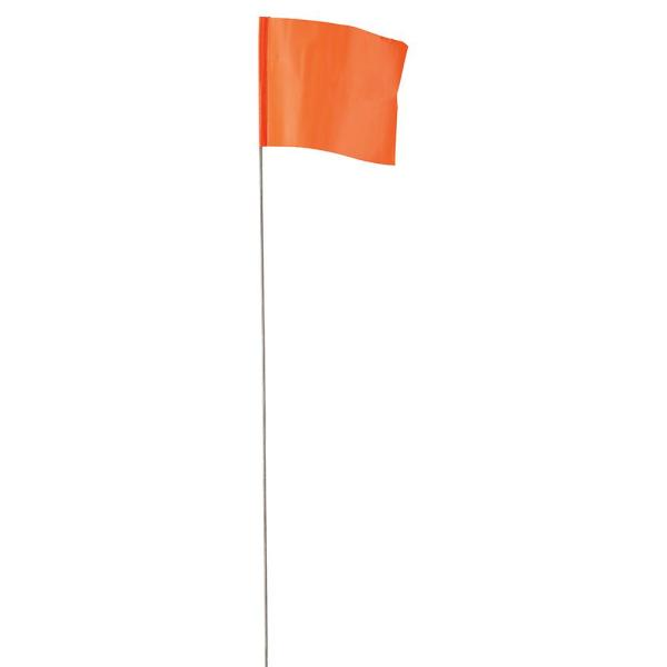 3.5 in. x 2.5 in. Glo Orange Flag Stakes (100-Pack)