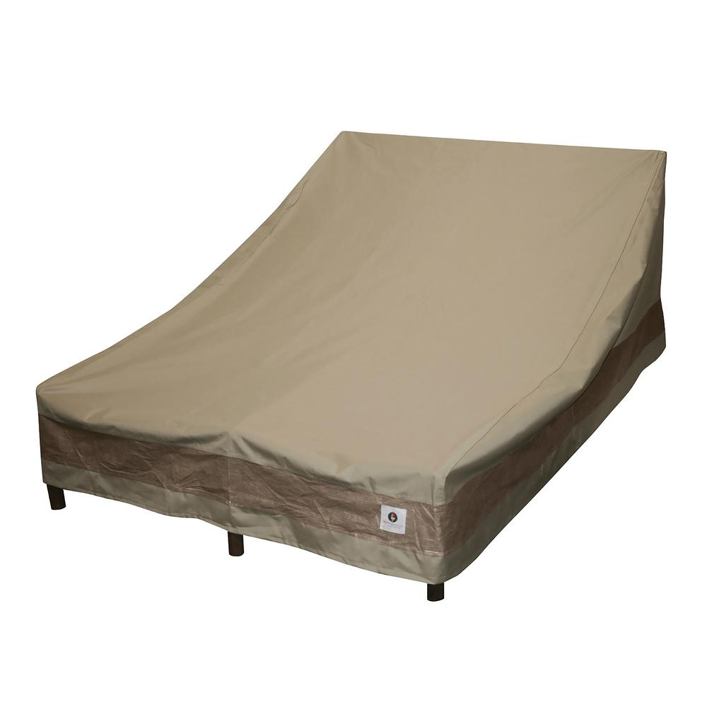 Duck Covers Elegant 82 in. Tan Double Chaise Lounge Cover
