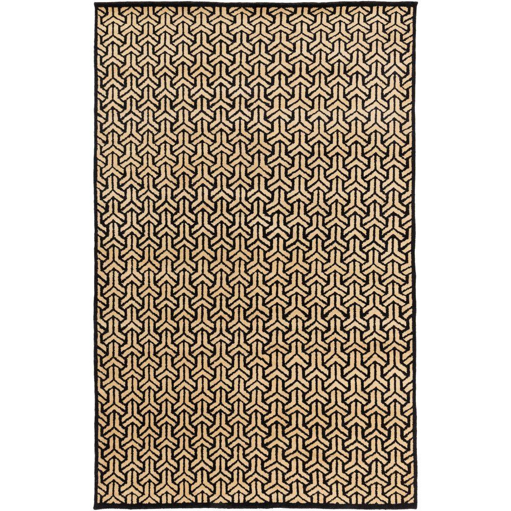 Visby Charcoal 6 ft. x 9 ft. Indoor Area Rug