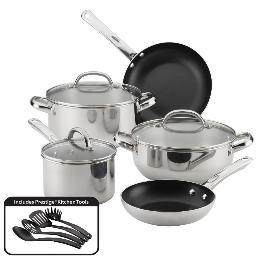 12-Piece Buena Cocina Stainless Steel Cookware Set