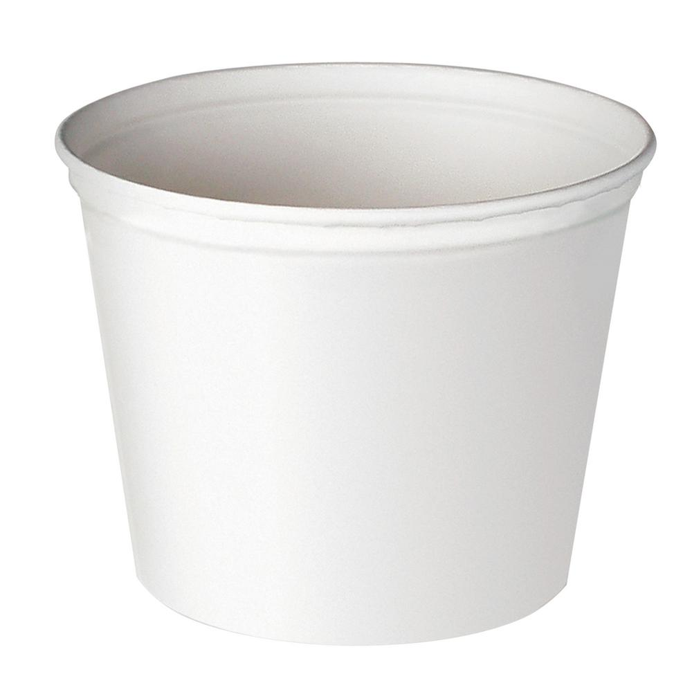 Solo Double Wrapped Paper Bucket 165 Oz Unwaxed White